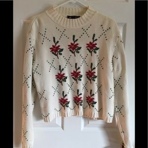 Lizsport Poinsettia Sweater